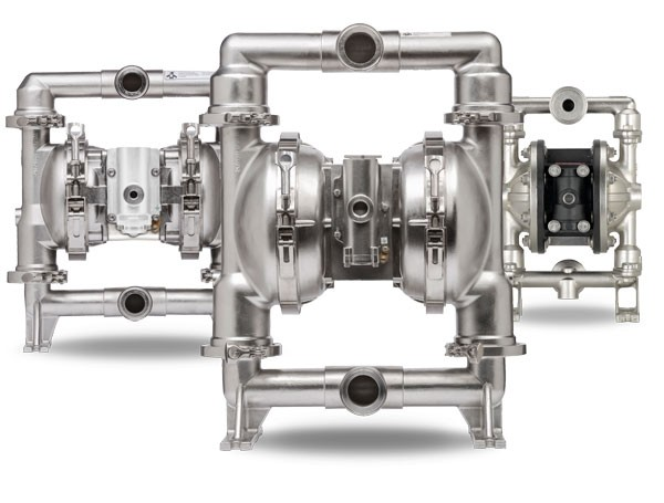 Diaphragm pumps for food and beverage, cosmetics and pharmaceutical industries
